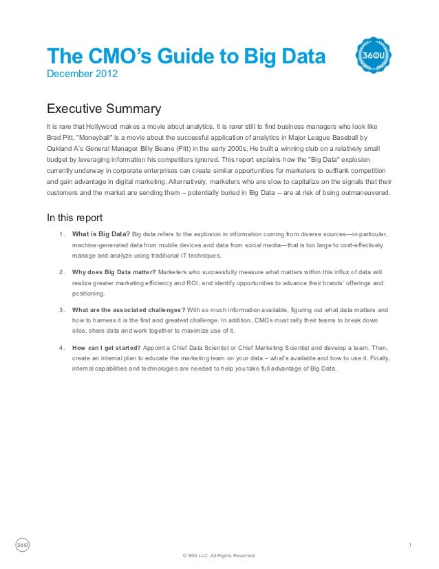 360i Report: Big Data