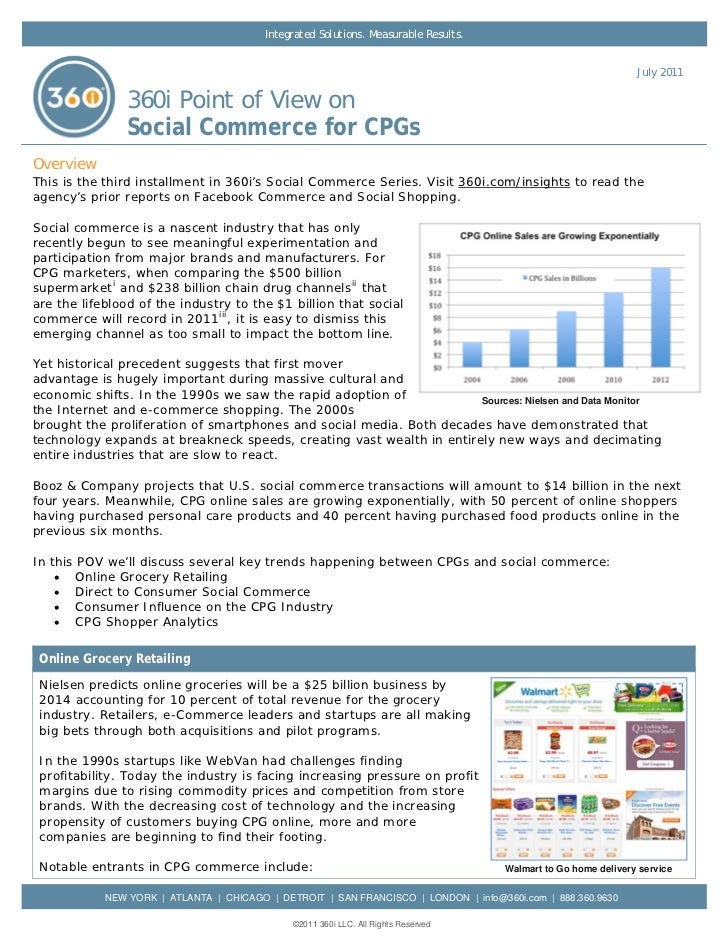 360i Report: Social Commerce for CPGs