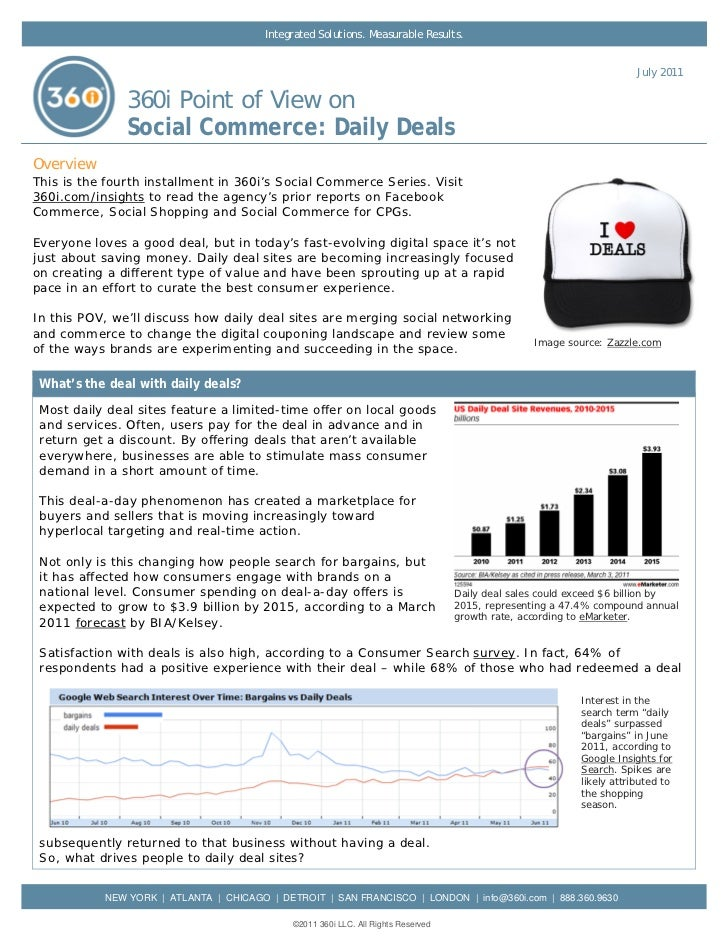 360i Report on Social Commerce: Daily Deals