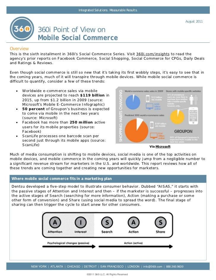 360i Report on Mobile Social Commerce