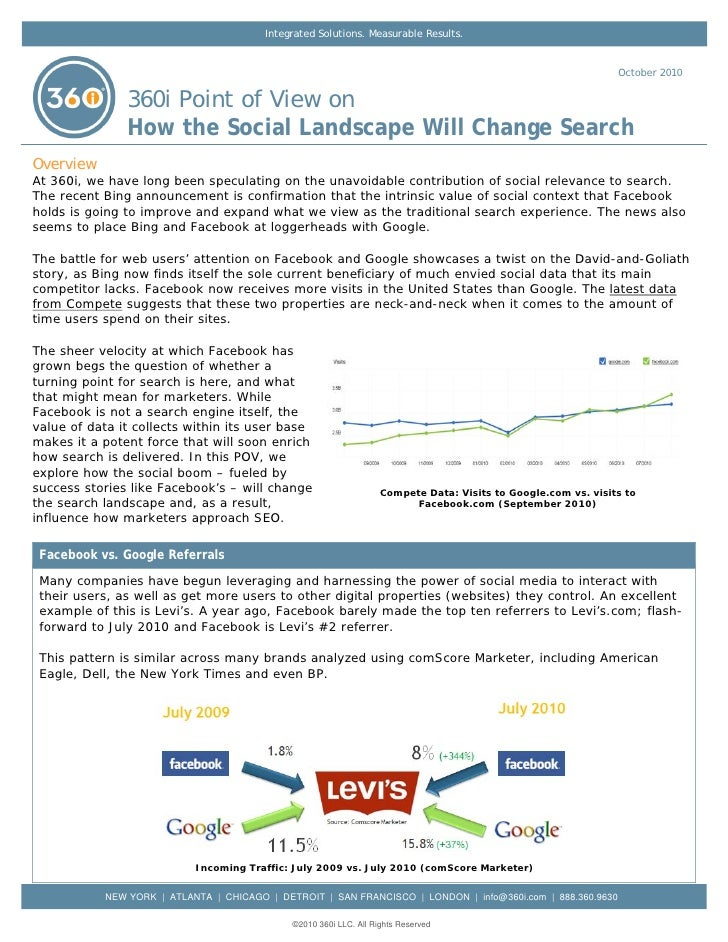 360i Report: How the Social Landscape Will Change Search