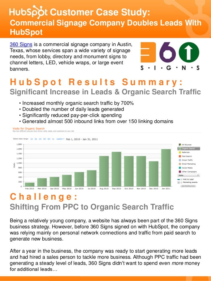 Customer Case Study:Commercial Signage Company Doubles Leads WithHubSpot360 Signs is a commercial signage company in Austi...