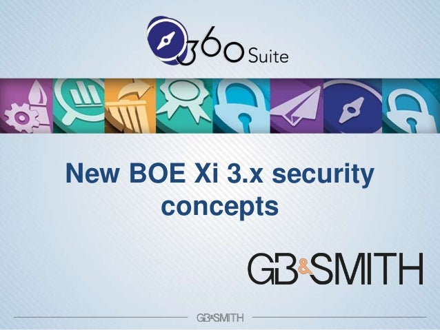 360view Business Objects Xi3.x New Security Concepts