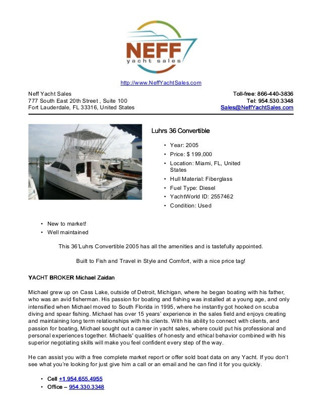 36' 2005 luhrs 36 convertible for sale   neff yacht sales