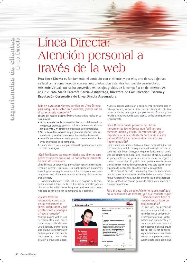 Línea Directa: Atención personal a través de la web