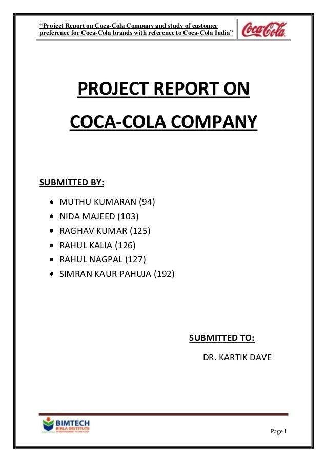 report-on-coca-cola