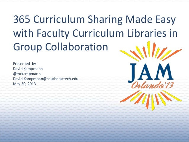 365 Curriculum sharing made easy with faculty curriculum libraries in group collaboration