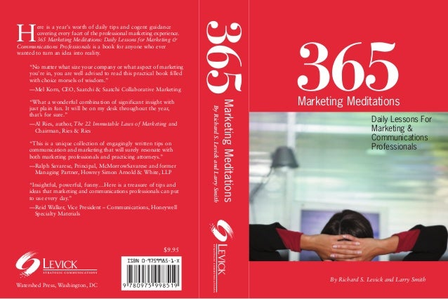 365H        ere is a year's worth of daily tips and cogent guidance        covering every facet of the professional market...