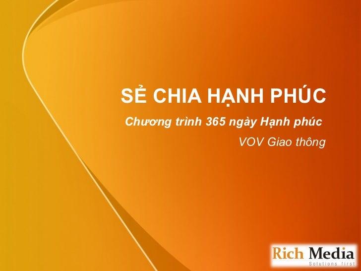 SẺ CHIA HẠNH PHÚC Chương trình 365 ngày Hạnh phúc  VOV Giao thông