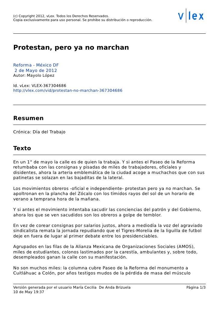 (c) Copyright 2012, vLex. Todos los Derechos Reservados.Copia exclusivamente para uso personal. Se prohibe su distribuci—n...