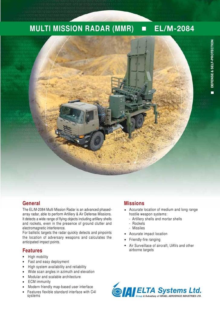 multi mission radar (MMR) - EL/M-2084 FOR IRON DOME