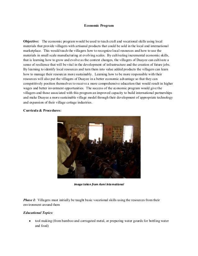 Liberia Sustainable Village Model Economic Program