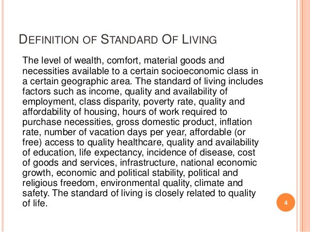 Image result for standard of living