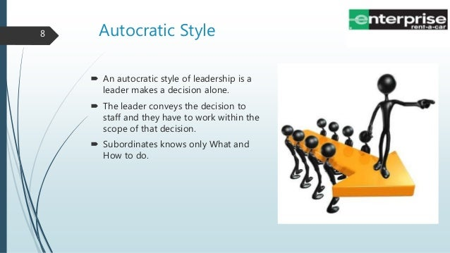 autocratic style of management How to leverage the autocratic style to manage successfully after centuries as the standard management style, autocratic leadership can still succeed in the.