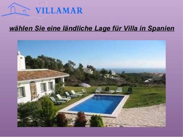 wählen Sie eine ländliche Lage für Villa in Spanien