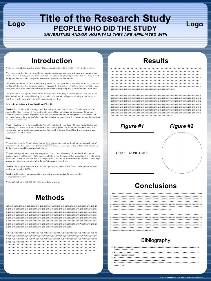 Powerpoint poster template vertical