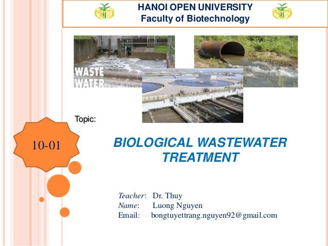 Biological wastewater treatment. MB.Luong Nguyen Thanh