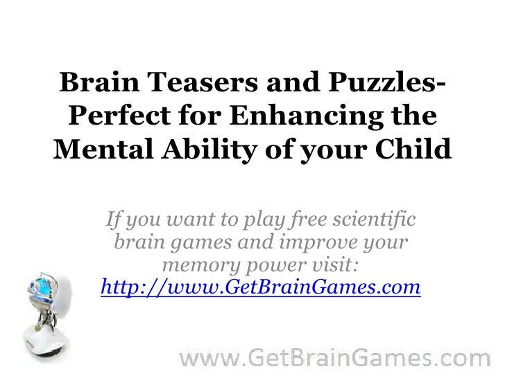 Brain teasers and puzzles- perfect for enhancing the ...