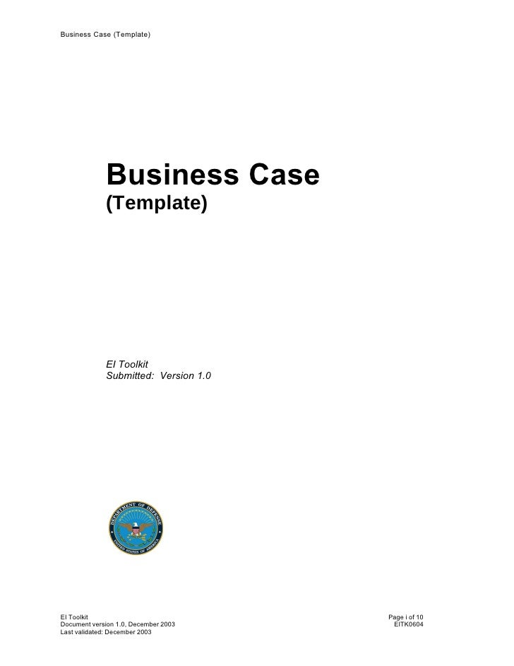 Business case template ppt militaryalicious business case template ppt cheaphphosting Images