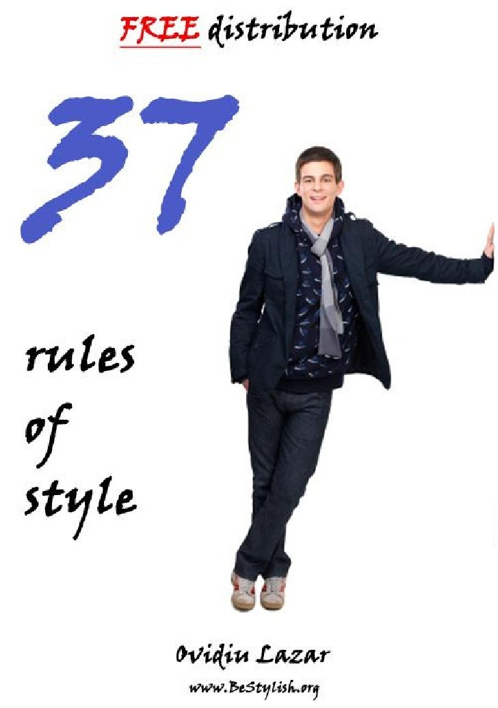 37 Rules Of Mens Style
