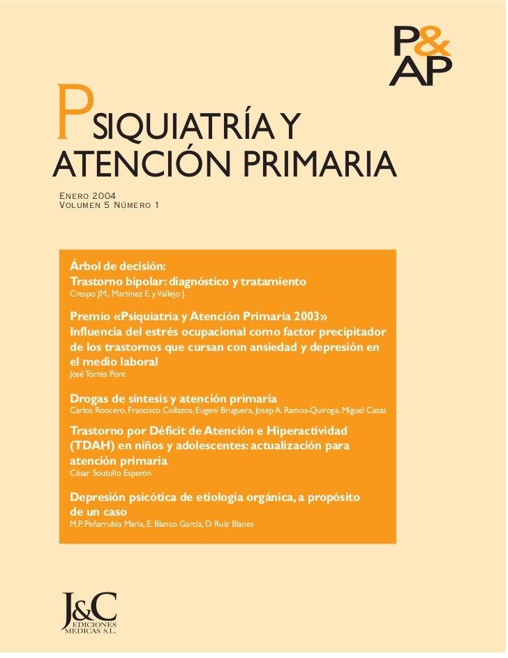 Psiquiatria y atención primaria TDAH.