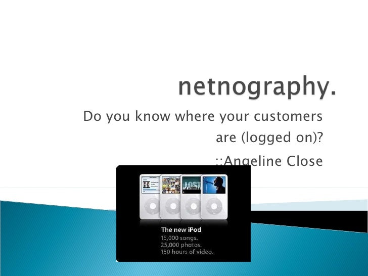 Netnography: Ipod Example