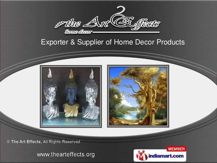 Exporter & Supplier of Home Decor Products