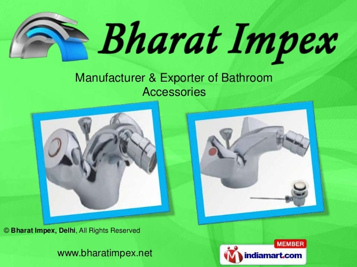 Manufacturer & Exporter of Bathroom <br />Accessories<br />