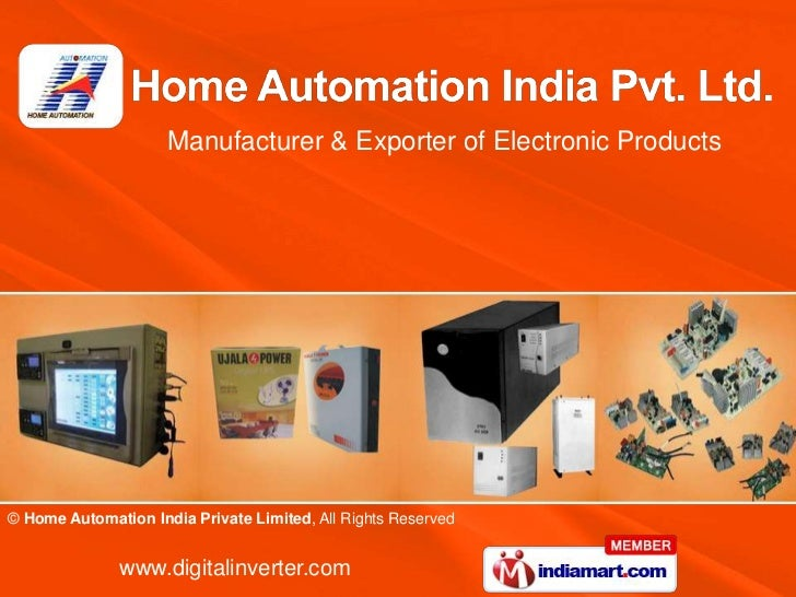 Manufacturer & Exporter of Electronic Products© Home Automation India Private Limited, All Rights Reserved              ww...