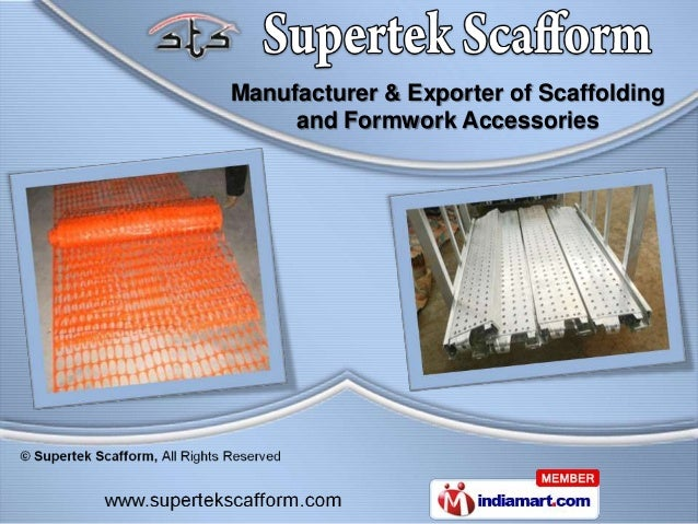 Manufacturer & Exporter of Scaffolding     and Formwork Accessories