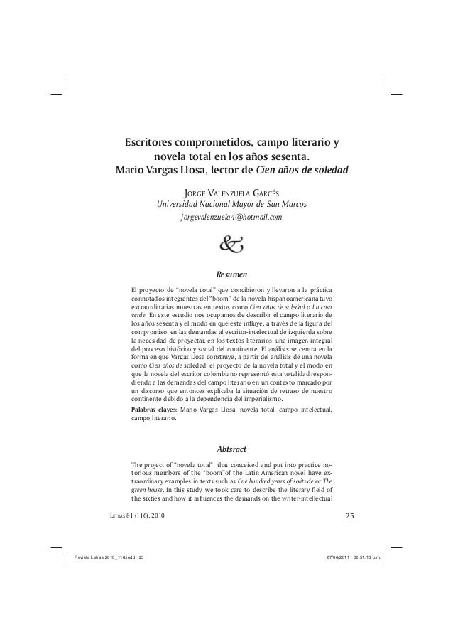 25EL OBJETO DE ARTE COMO OBJETO SOCIAL EN LIMA VIRREINALLETRAS 81 (116), 2010Escritores comprometidos, campo literario yno...