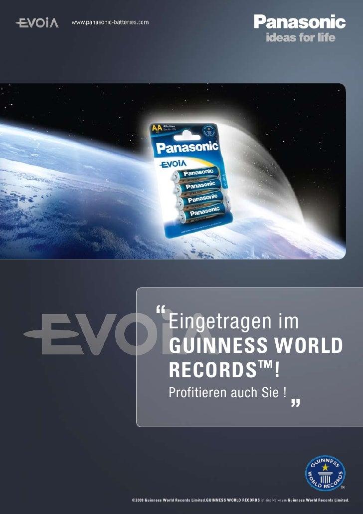 Eingetragen im                   GUINNESS WORLD                   RECORDS ™!                   Profitieren auch Sie !     ...