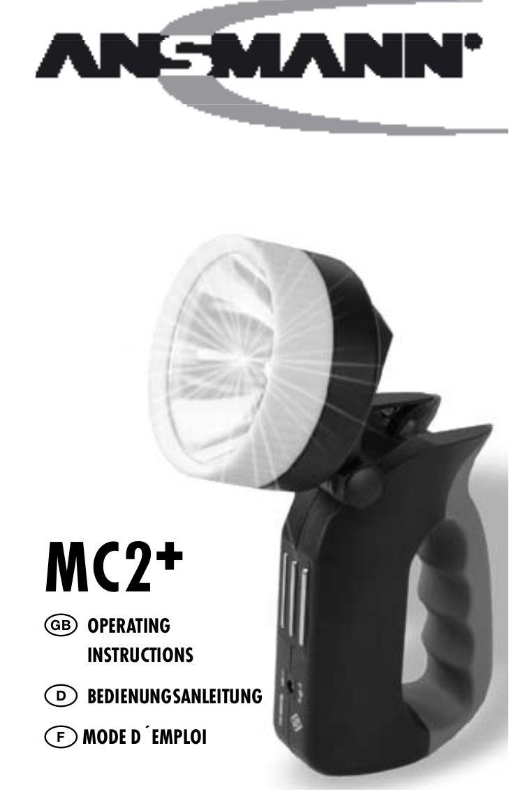 MC2+ GB Operating     instruCtiOns D Bedienungsanleitung F MOde d´eMplOi