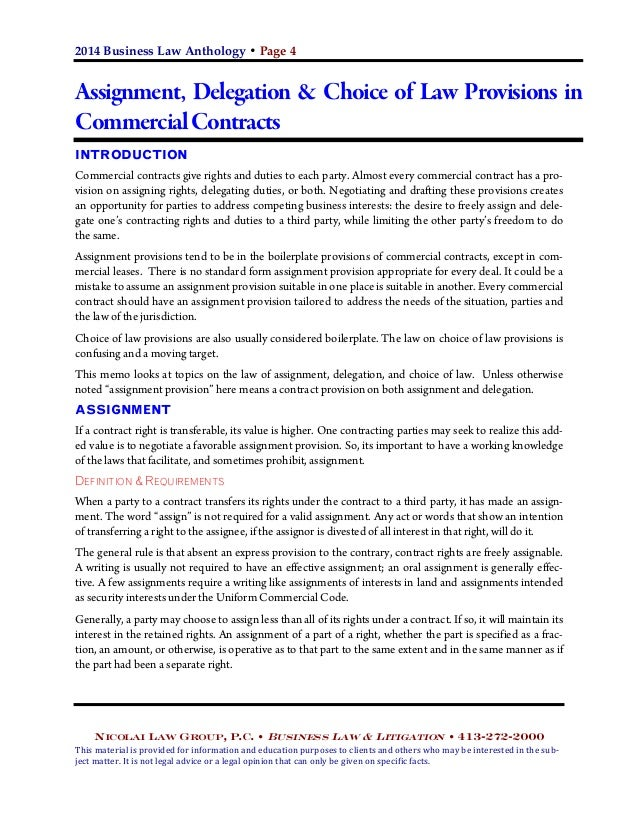 Assigned Contract