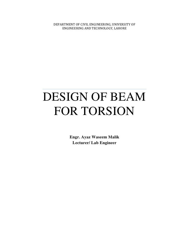 an introduction to torsion and the typical strains 54 analysis for torsion  compatibility of strains in concrete and steel 3)  from the typical torque versus twist curves for sections under pure torsion.
