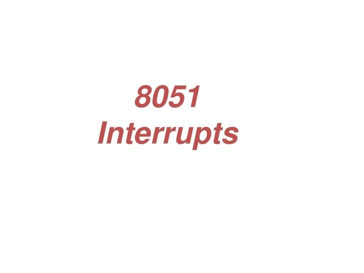 8051Interrupts