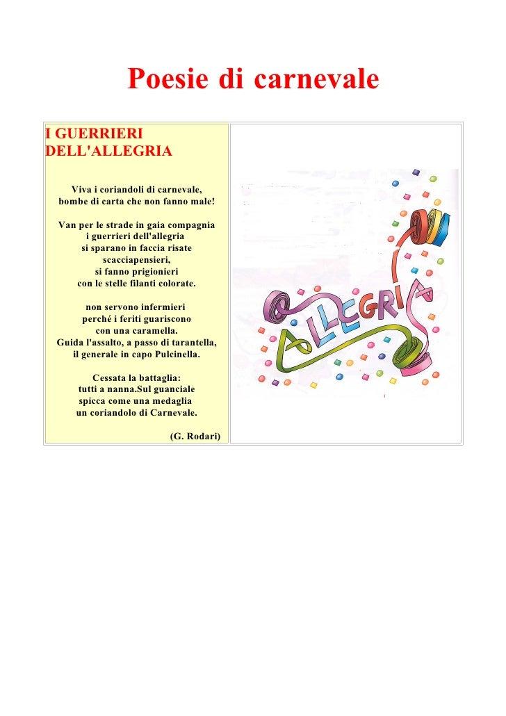 Poesie di Carnevale