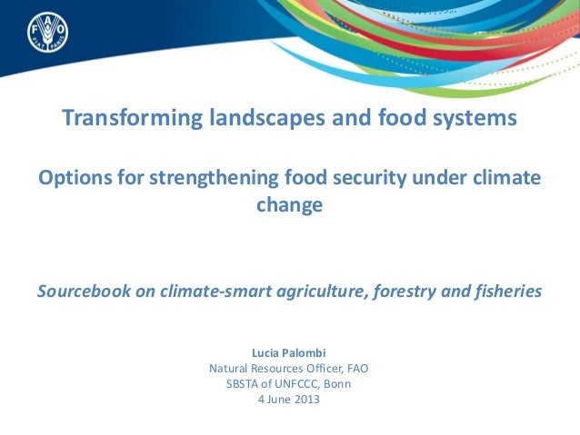 Transforming landscapes and food systemsOptions for strengthening food security under climatechangeSourcebook on climate-s...