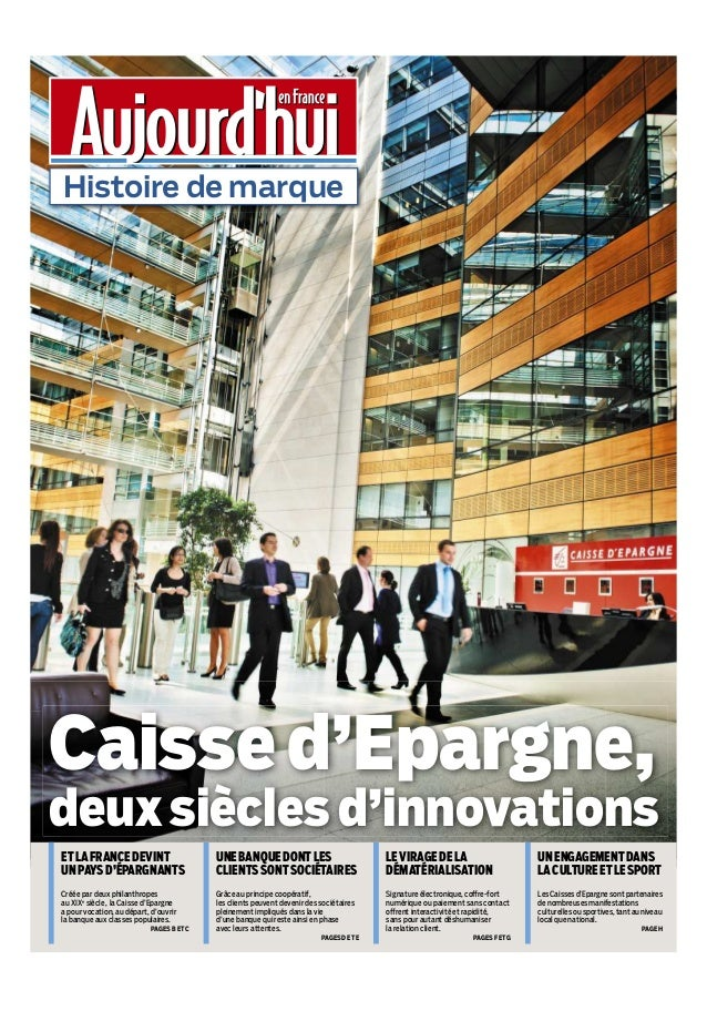 Caisse d'Epargne, 200 ans d'innovation