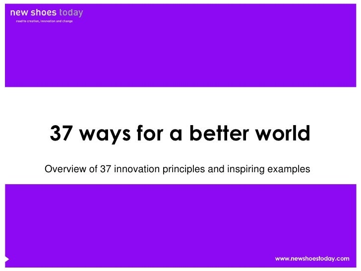 37 Ways for a better world (Marc Heleven)