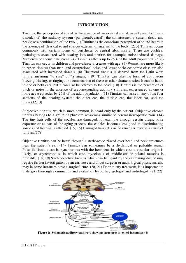 ITJ Comorbidity Of Chronic Tinnitus And Mental Disorders