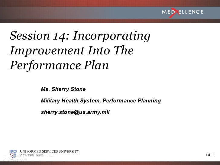 Session 14 - Incorporating Improvement into Performance Plan