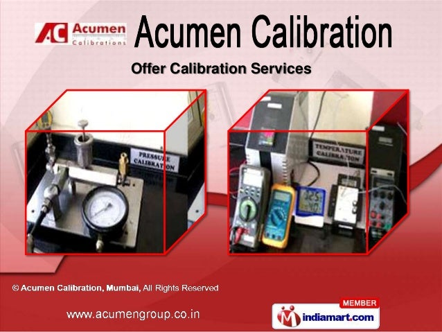 Acumen Calibration Maharashtra India