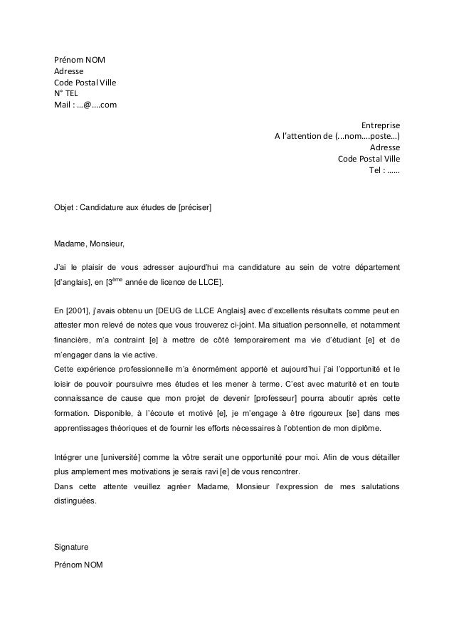 modele lettre motivation formation professionnelle