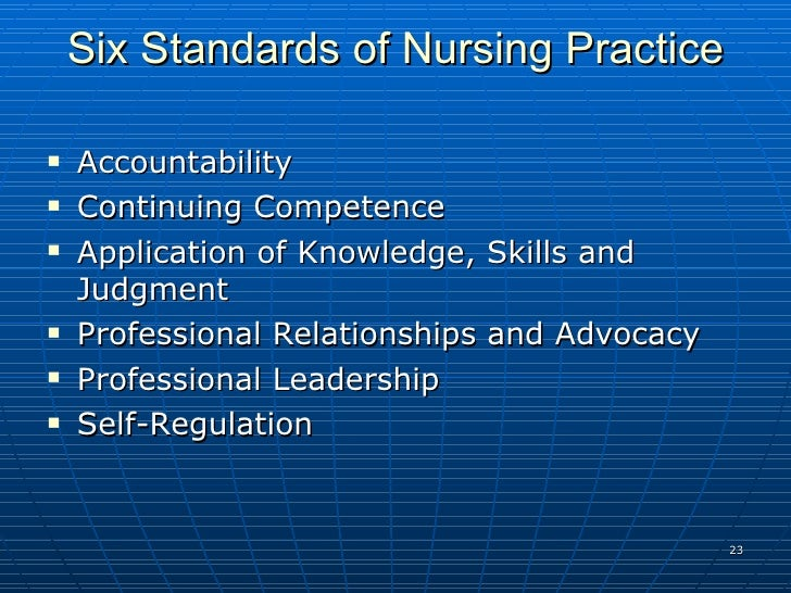 accountability and responsibility principle of nursing Stewardship and accountability (sa) stewardship and accountability (sa) principles: nursing home, residential and.