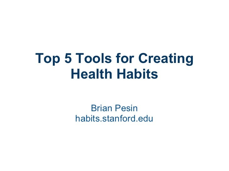 Top 5 Tools for Creating Health Habits