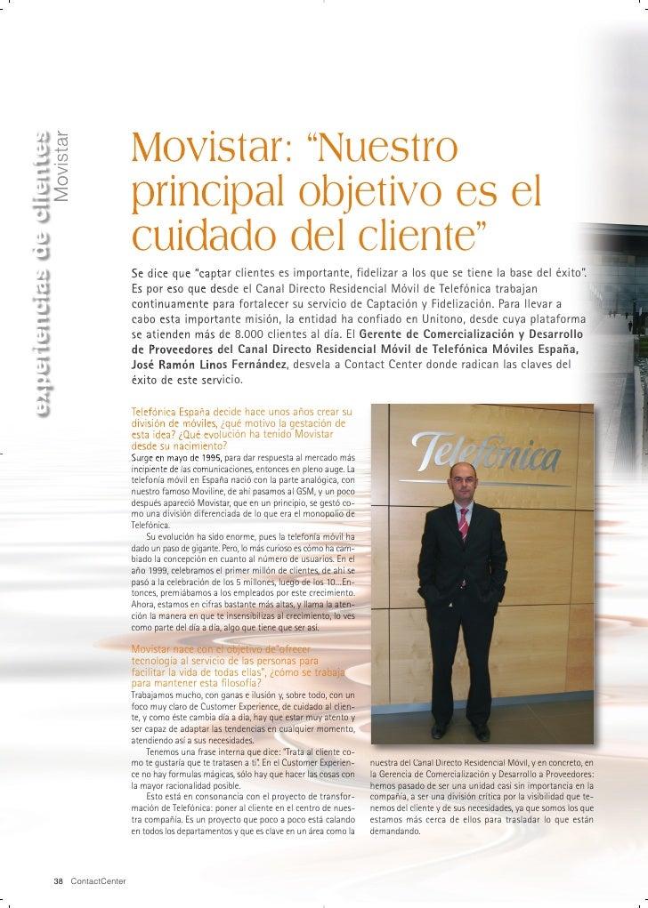 """experiencias de clientes                                              Movistar: """"Nuestro                    Movistar      ..."""