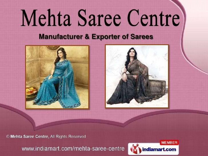 Mehta Saree Centre Tamil Nadu India