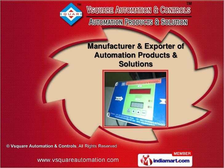 Manufacturer & Exporter of Automation Products &       Solutions
