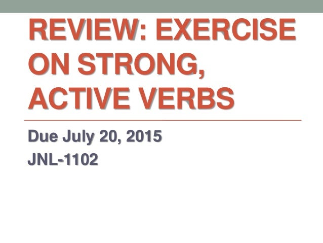 how to use active verbs